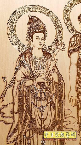 A15413.小佛桌佛聯 西方三聖佛像雕刻.jpg