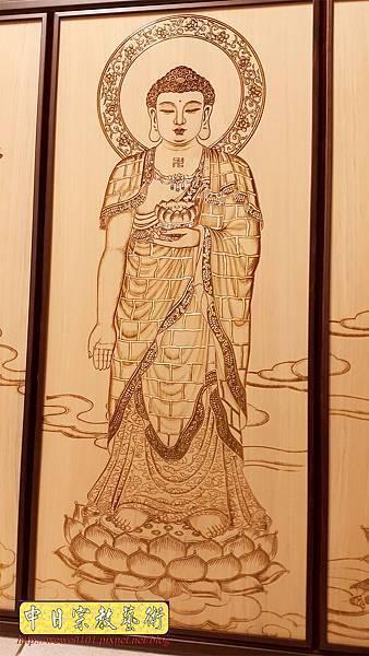 A15506.現代佛桌佛聯系列 西方三聖木雕佛聯 雷射雕刻佛像佛掛.jpg