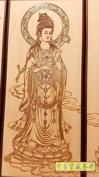 A15507.現代佛桌佛聯系列 西方三聖木雕佛聯 雷射雕刻佛像佛掛.jpg