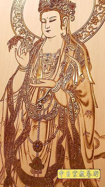 A15514.現代佛桌佛聯系列 西方三聖木雕佛聯 雷射雕刻佛像佛掛.jpg