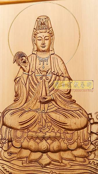 A15704.現代神桌神明聯公媽聯 電腦雕刻觀世音菩薩像.jpg
