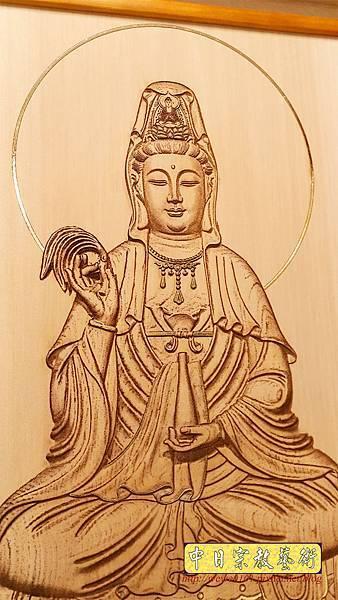 A15705.現代神桌神明聯公媽聯 電腦雕刻觀世音菩薩像.jpg