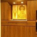 N31102.現代裝潢式佛堂 系統櫃式神明櫥 觀世音菩薩木雕神聯佛聯.jpg