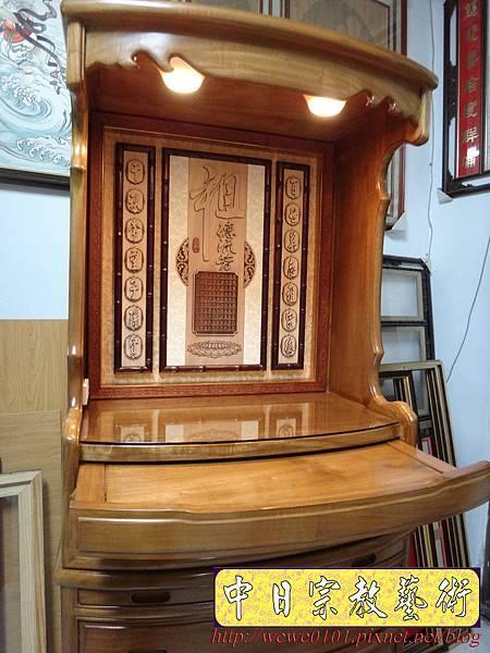 E8812.居家小公媽櫥 2尺28小公媽櫥 肖楠木祖先牌位 水晶蓮花燈.jpg