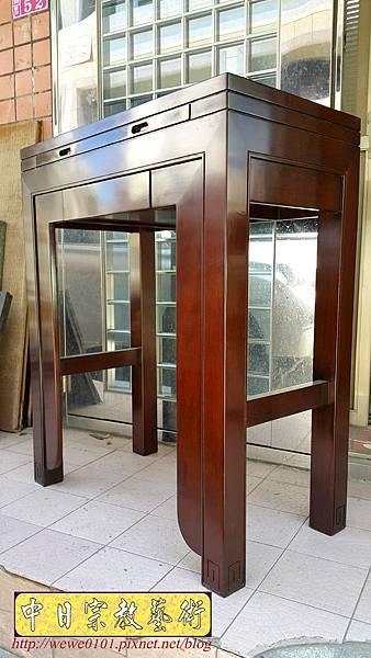 M18202.時尚神桌 設計 簡約風2尺9佛桌樣式 雞翅木小神桌.jpg