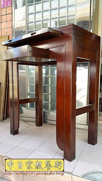 M18205.時尚神桌 設計 簡約風2尺9佛桌樣式 雞翅木小神桌.jpg