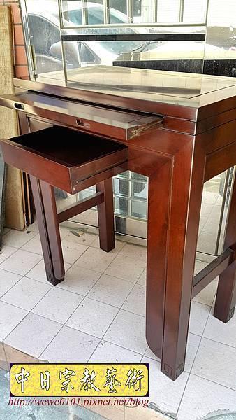 M18206.時尚神桌 設計 簡約風2尺9佛桌樣式 雞翅木小神桌.jpg