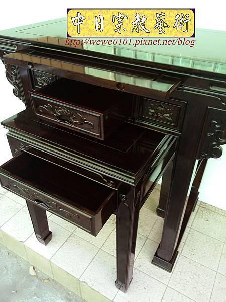 M18610.高級黑檀木神桌 3尺6佛桌樣氏 黑檀明式神桌.jpg