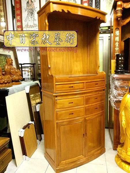 M18702.現代神明櫥 櫃型佛櫥佛龕 柚木公媽櫥櫃.jpg