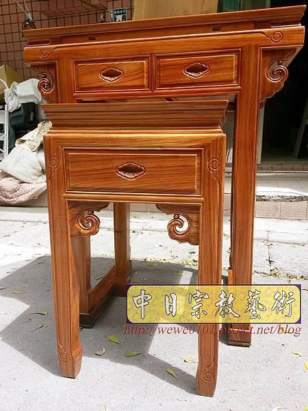 M18802.拜拜小神桌 2尺9小佛桌 柚木祖先公媽桌.jpg
