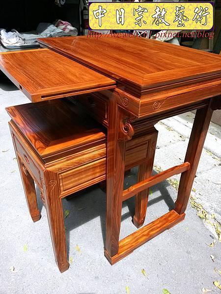 M18804.拜拜小神桌 2尺9小佛桌 柚木祖先公媽桌.jpg