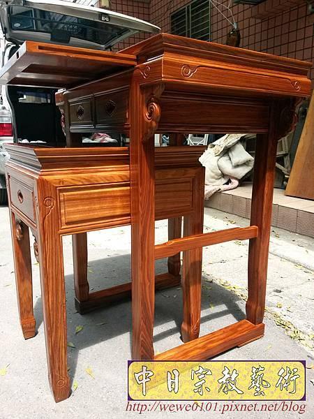 M18805.拜拜小神桌 2尺9小佛桌 柚木祖先公媽桌.jpg