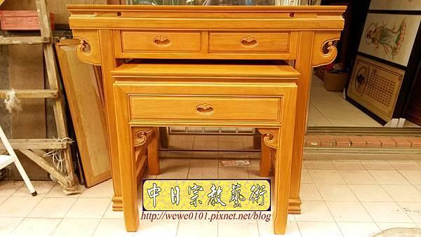 M19201.天然柚木佛桌製作 4尺2神桌 明式公媽桌樣式.jpg