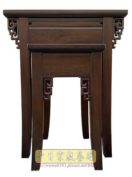M19301.古典小神桌樣式 居家小神桌 黑紫檀2尺9神桌.JPG