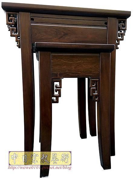 M19302.古典小神桌樣式 居家小神桌 黑紫檀2尺9神桌.JPG
