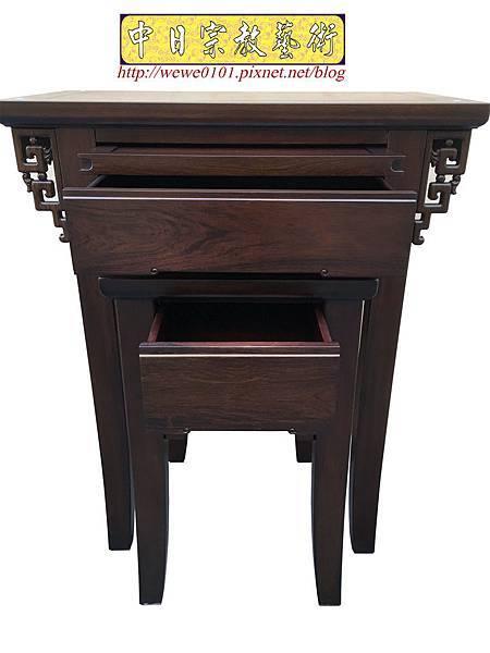 M19303.古典小神桌樣式 居家小神桌 黑紫檀2尺9神桌.JPG
