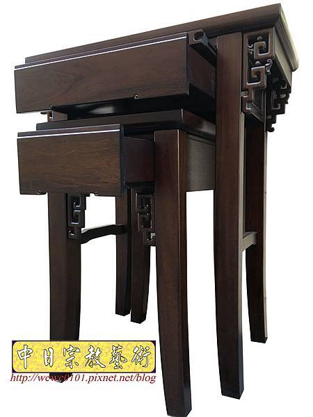 M19304.古典小神桌樣式 居家小神桌 黑紫檀2尺9神桌.JPG