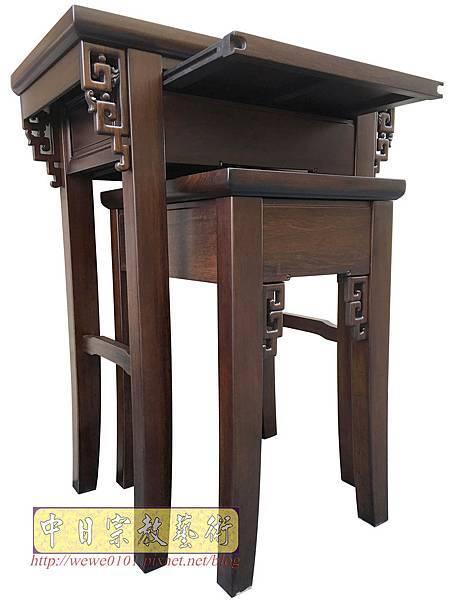 M19305.古典小神桌樣式 居家小神桌 黑紫檀2尺9神桌.JPG