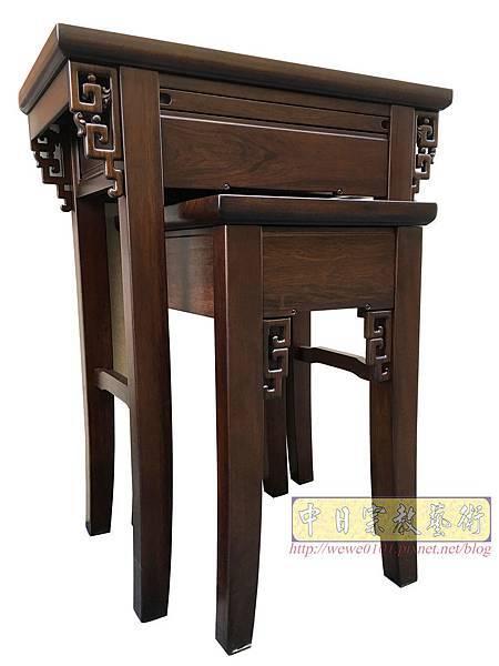M19306.古典小神桌樣式 居家小神桌 黑紫檀2尺9神桌.JPG