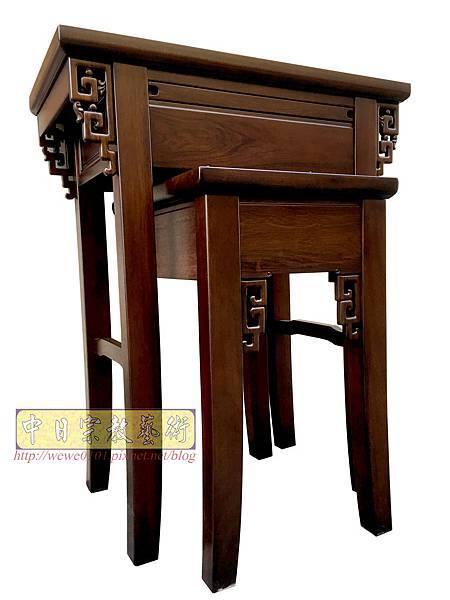 M19308.古典小神桌樣式 居家小神桌 黑紫檀2尺9神桌.JPG