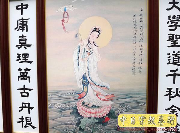 Q3205.一貫道佛桌 南海古佛畫像.JPG