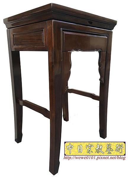 M19505.二尺二黑紫檀素面小神桌 公媽桌.JPG