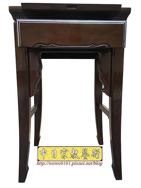 M19502.二尺二黑紫檀素面小神桌 公媽桌.JPG