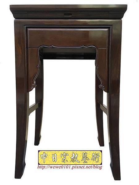 M19501.二尺二黑紫檀素面小神桌 公媽桌.JPG
