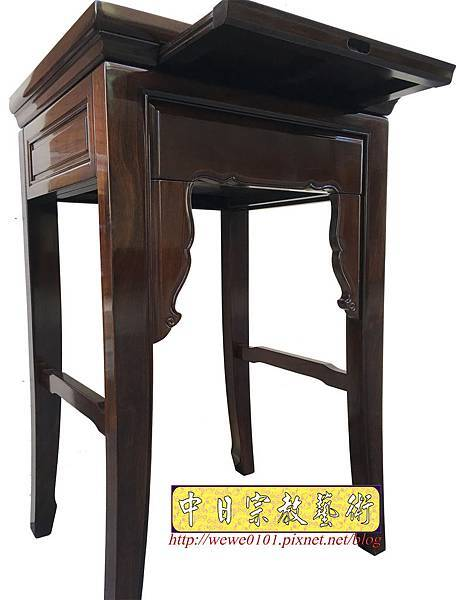 M19503.二尺二黑紫檀素面小神桌 公媽桌.JPG