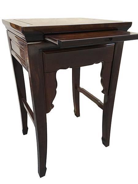 M19504.二尺二八黑紫檀素面小神桌 公媽桌.JPG