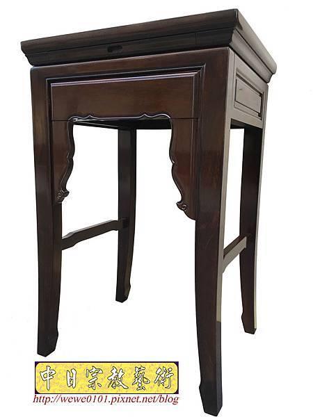 M19506.二尺二八黑紫檀素面小神桌 公媽桌.JPG