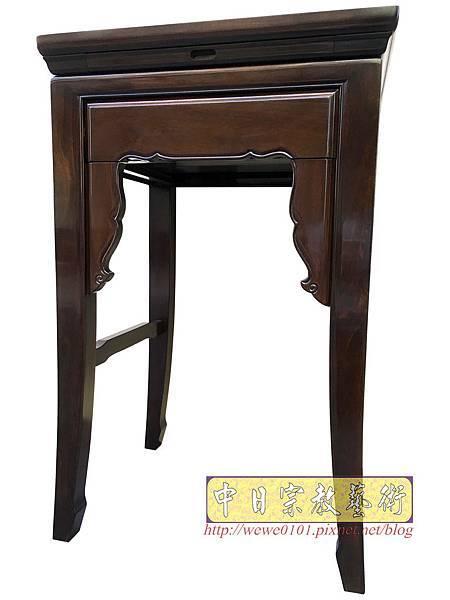 M19508.二尺二黑紫檀素面小神桌 公媽桌.JPG