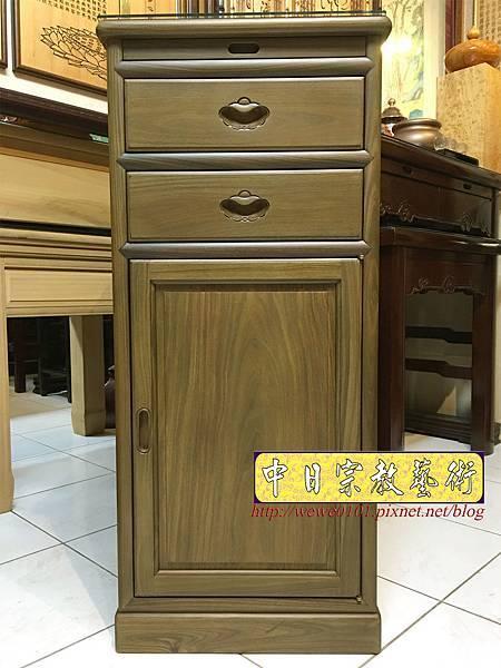 M19601.綠檀公媽櫃 1尺58小供桌 佛桌.JPG