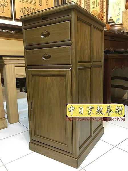 M19602.綠檀公媽櫃 1尺58小供桌 佛桌.JPG