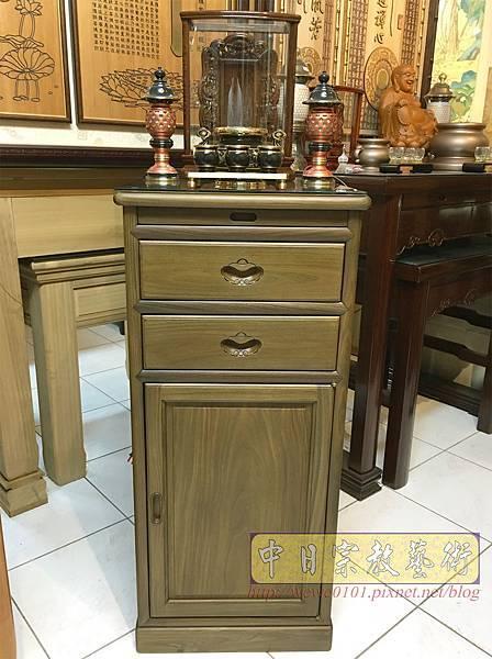 M19607.綠檀公媽櫃 1尺58小供桌 佛桌.JPG