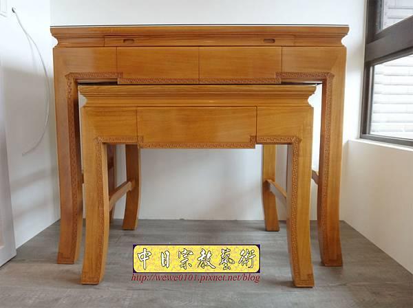 M19701.黃花梨木神桌 彎腳精雕龍紋佛桌樣式 4尺2小神桌.JPG