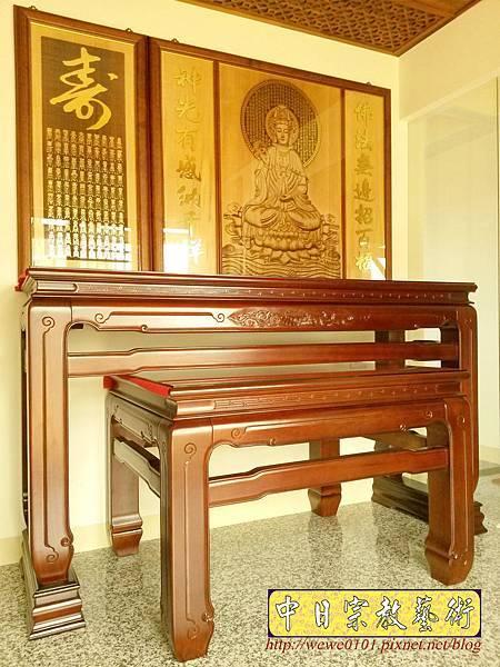 N33905.五尺八鹿港型佛桌 仿浮雕觀音木雕聯.jpg