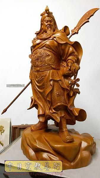 L6401.神桌神像精品雕刻-關公 關老爺 關聖帝君木雕藝品.jpg