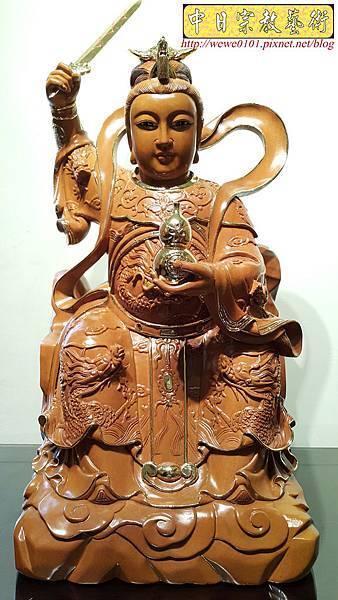 L6701.神桌神像雕刻~九天玄女木雕佛像.jpg