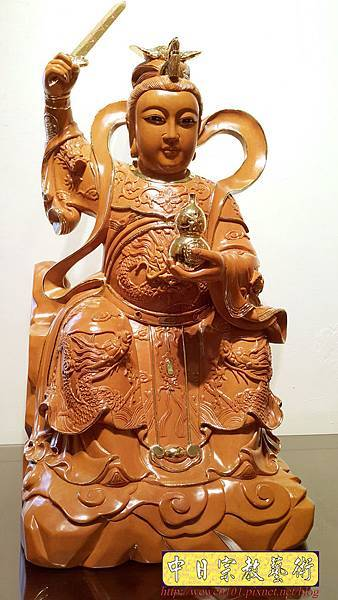 L6702.神桌神像雕刻~九天玄女木雕佛像.jpg
