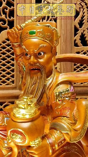 L6905.武財神木雕 八路財神雕刻 一尺六武財神趙公明.jpg