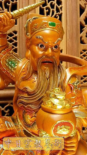 L6904.武財神木雕 八路財神雕刻 一尺六武財神趙公明.jpg