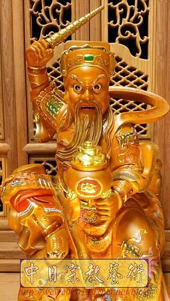 L6903.武財神木雕 八路財神雕刻 一尺六武財神趙公明.jpg