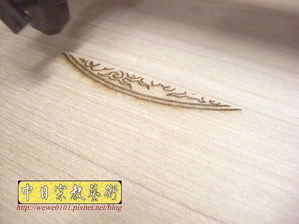 A15909.現代神桌佛像聯對~雷射雕刻西方三聖木雕聯.JPG