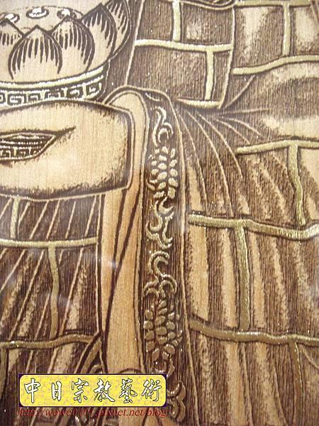 A15907.現代神桌佛像聯對~雷射雕刻西方三聖木雕聯.JPG