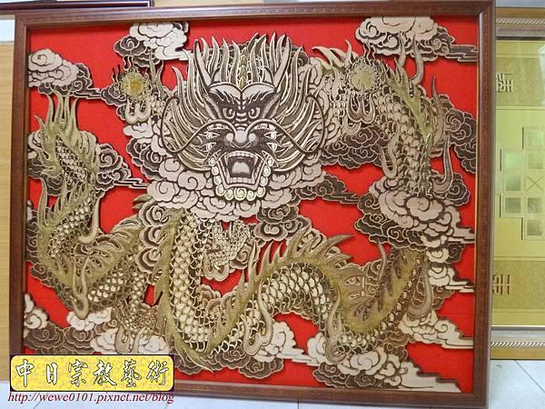 A18416.龍壁雕刻 宮廟壁龍木雕 神桌後貼龍壁.JPG