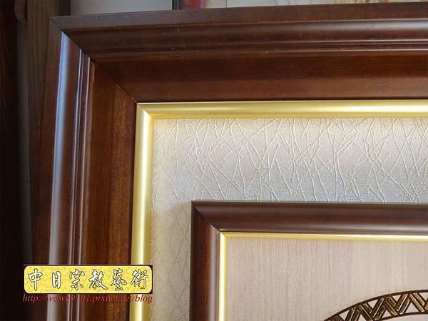 A18912.時尚佛桌觀音木雕神明彩2尺9 心經觀音 福祿壽木雕佛聯.JPG