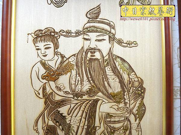 A19008.時尚佛桌觀音木雕神明彩6尺3 五合三觀音木雕佛聯.JPG