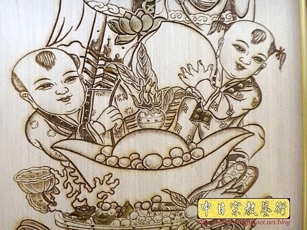 A19010.時尚佛桌觀音木雕神明彩6尺3 五合三觀音木雕佛聯.JPG