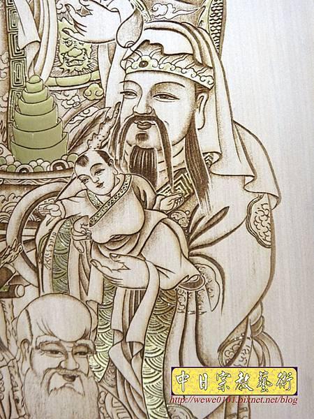 A19007.時尚佛桌觀音木雕神明彩6尺3 五合三觀音木雕佛聯.JPG